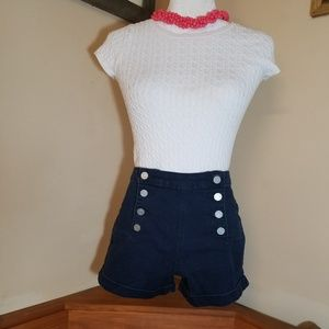 RSQ Highwaisted Button Fly Shorts Size 10